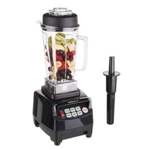Küchenmixer Test Ultratec Professioneller Standmixer (2,0 Liter, 1500 Watt, 6 Edelstahlmesser, inkl. Stößel und Smoothie Rezeptbuch), schwarz - 1
