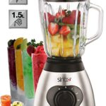 Mixgerät Test Glas Standmixer 600 Watt 1,5 Liter Smoothie Maker Ice Crusher Universal Mixer 6-fach Metallmesser - 1